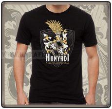 Hunyadi címeres fekete póló