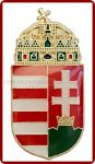 Magyar koronás címer, 30 mm