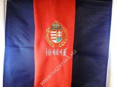 Polár sál címeres rovásírással piros