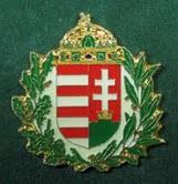 Lombos magyar címer, 30 mm-es, fehér háttér