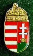 Kitűző, Magyar koronás címer, 18 mm