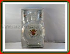 Pálinkás üveg 0,5 Angyalos+ 2 pohár
