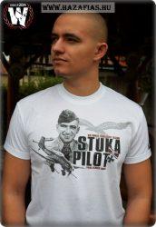 Stuka Pilot póló-fehér