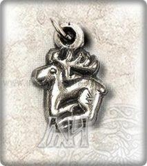 Kis szkíta szarvas medál- ezüst