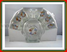 Pálinkás üveg 0,5 L kalocsai+ 6 pohár