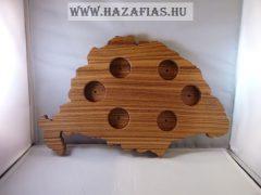 Nagy-Magyarországos pálinka kínáló/ sötét barna
