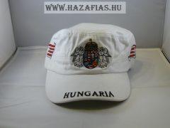 Sapka Angyalos címeres militari fehér
