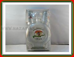Pálinkás üveg 0,5 L Magyarország+ 2 pohár