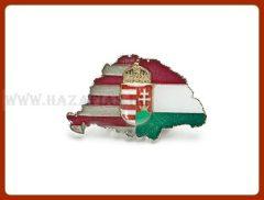 Kitűző-Magyarország,osztott,címer,nagy-T