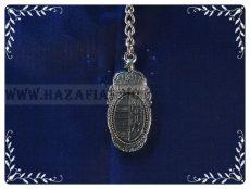 Kulcstartó-Barokk címer-ezüst,kétoldalas