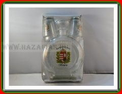 Pálinkás üveg 0,5 L Címer+ 2 pohár