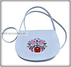 Kis méretű női táska, kalocsai,fehér