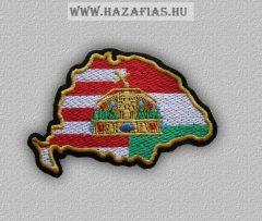 Felvarró-Magyarország koronás (10,5 x 7 cm)
