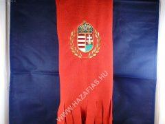 Polár sál címeres piros