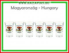 Pálinkáspohár 3,5 cl Magyarország 6 db-os
