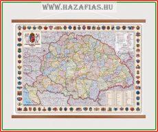 Térkép A Magyar Szent Korona Országai 1914 faléces