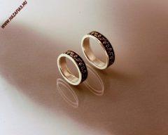 Palmettadíszes karikagyűrű