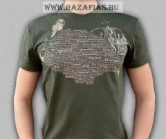 Magyarország póló - Harcos Koronás-sötét khaki