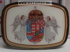 Öv marhabőrből-Angyalos címeres csattal