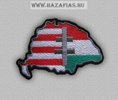 Felvarró-Magyarország kettős kereszt (10,5 x 7 cm)