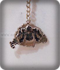 Kulcstartó,Angyalos,ezüst-kétoldalas