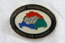 Igazságot Magyarországnak ovális 20 mm