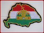 Magyarország - Koronás felvarró (nemzeti szín) 10,5x7 cm
