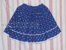 Kékfestős lányka szoknya