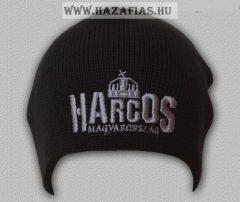 Kötött sapka Harcos-koronás ezüst  (Kód: KsF08)