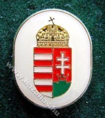 Magyar Címer ovál fehér alapon, 18 mm