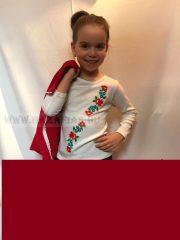 Hímzett kalocsai mintás kislány hosszú ujjú póló