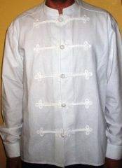 Férfi bocskai ing álló nyakú