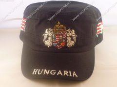 Sapka Angyalos címerrel-military jelegű-fekete