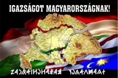 """Fa hűtőmágnes """"Igazságot Magyarországnak"""""""