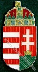 Magyar koronás címer, 45 mm,  csíkozott
