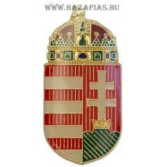 Kitűző, Magyar koronás címer, 30 mm csíkozott
