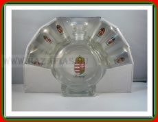 Pálinkás üveg 0,5 L Címer+ 6 pohár