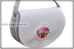 Kalocsai női táska,fehér