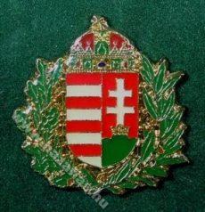 Lombos magyar címer, festett lomb, 23 mm-es