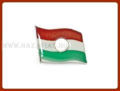 Kitűző, lyukas magyar zászló, 312*234