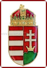 Kitűző, Magyar koronás címer, 45 mm