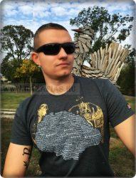 Magyarország-Koronás póló-szürke