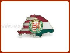 Kitűző-Magyarország, osztott, lombos címer,nagy-T