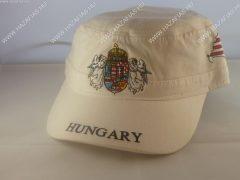 Sapka Angyalos címerrel-military jellegű-fehér