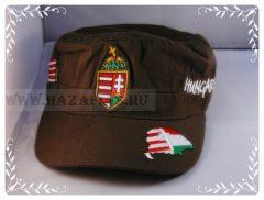 Sapka címeres zöld-military
