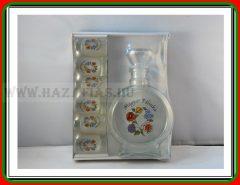 Pálinkás üveg 0,2 L Kalocsai+ 6 pohár