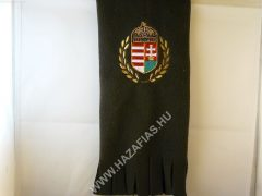 Polár sál címeres olivin zöld