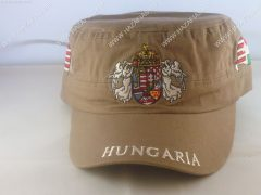Sapka Angyalos címerrel-military jellegű-bézs