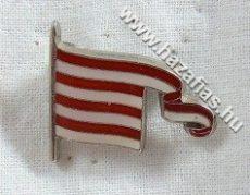 Árpádsávos zászló 25x21 mm
