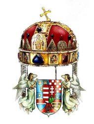 Fa hűtőmágnes Szent Koronás